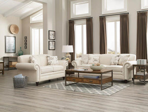 Open image in slideshow, Norah Traditional White Three-piece Living Room Set