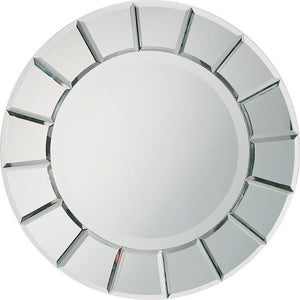 Round Sun-shaped Mirror Silver