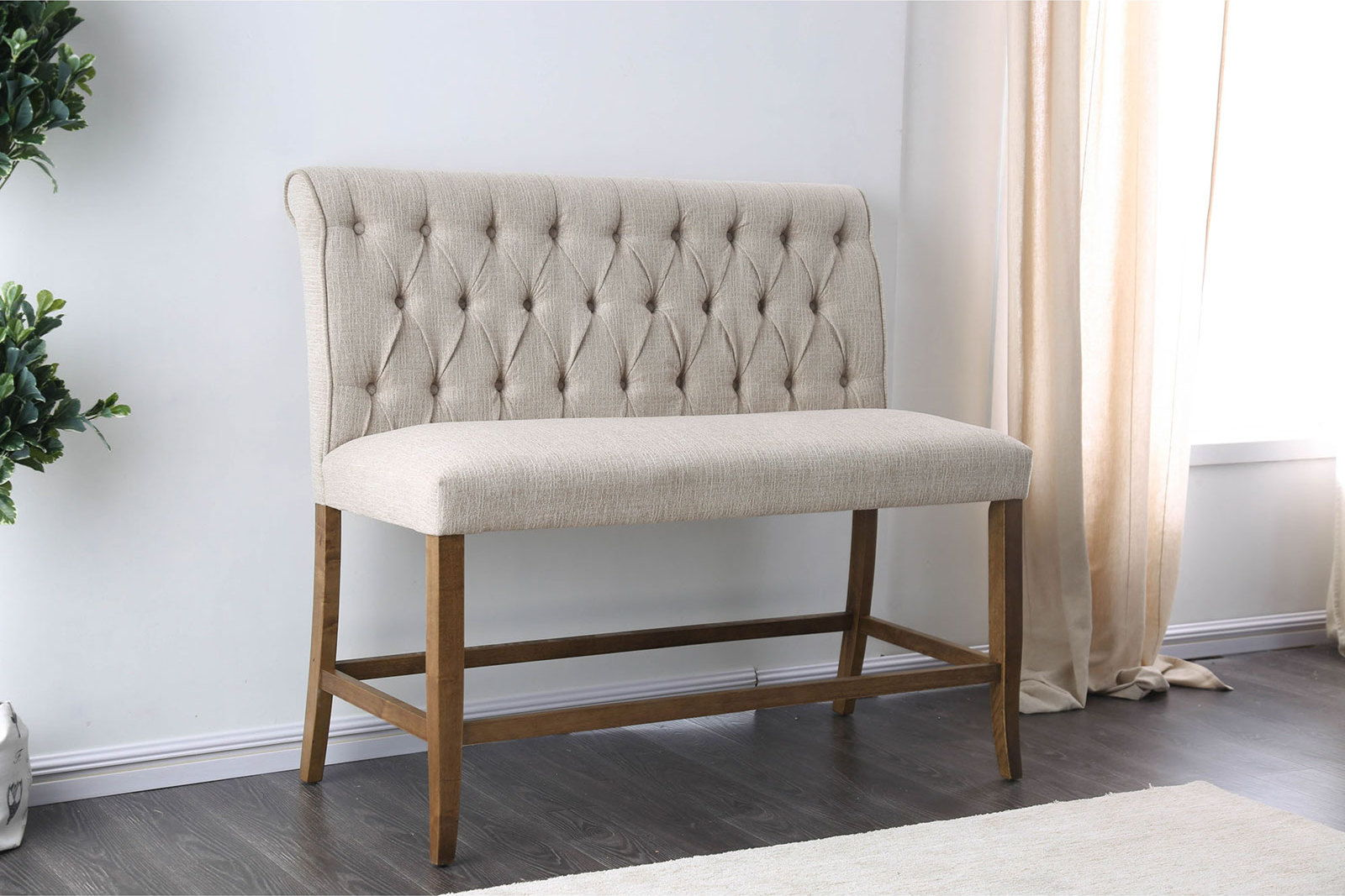 Sania - Counter Ht. Bench - Beige