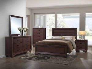 Fenbrook Collection - Fenbrook Transitional Dark Cocoa California King Bed Box Two