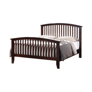 Tia Collection - Tia Eastern King Bed With Slatted Headboard Cappuccino