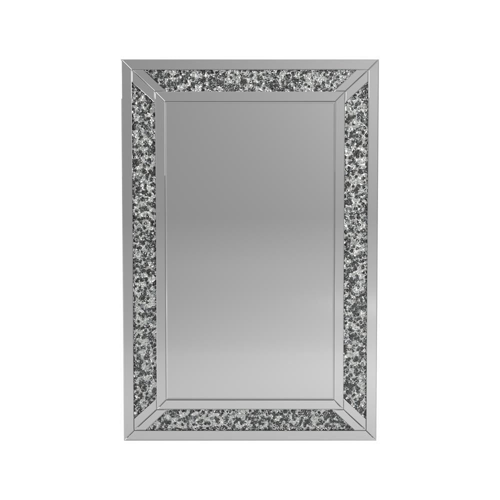 Faceted Acrylic Crystal Mirror Silver