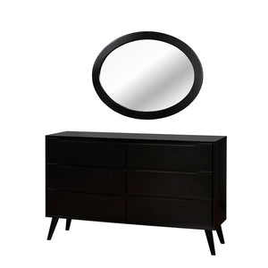 Lennart - Oval Mirror - Black