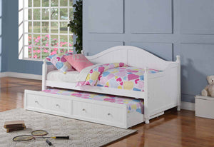 Open image in slideshow, Twin Daybed With Trundle - Coastal White Daybed Box Three