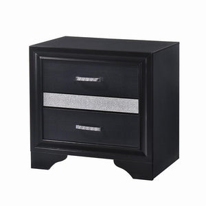 Open image in slideshow, Miranda Collection - Miranda 2-drawer Nightstand Tray Black