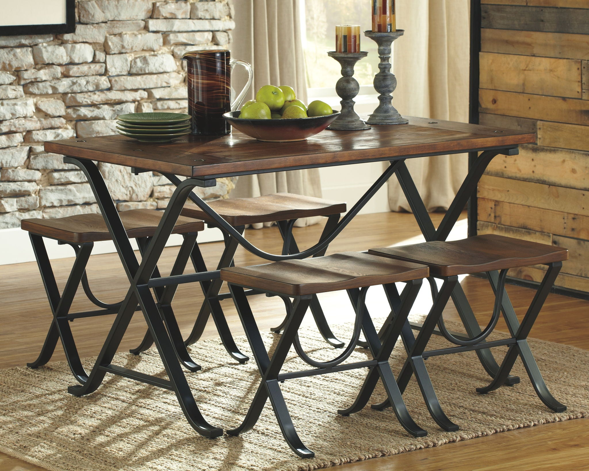 Freimore Dining Table and Stools (Set of 5)