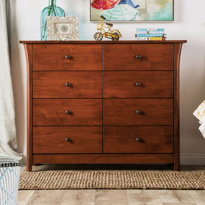 Open image in slideshow, Keizer - 8-Drawer Chest - Dark Cherry