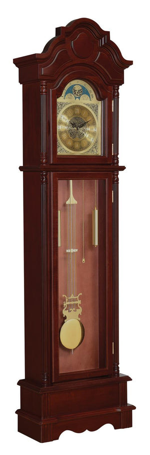 Pink - Grandfather Clock Brown Red And Clear