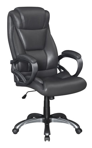 Open image in slideshow, Grey - Upholstered High Back Office Chair Grey