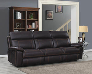 Open image in slideshow, Albany Motion Collection - Brown - 3 Pc Power2 Sofa