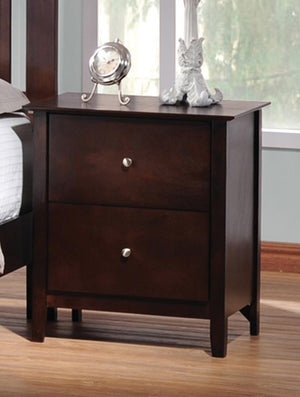 Open image in slideshow, Tia Collection - Tia 2-drawer Rectangular Nightstand Cappuccino