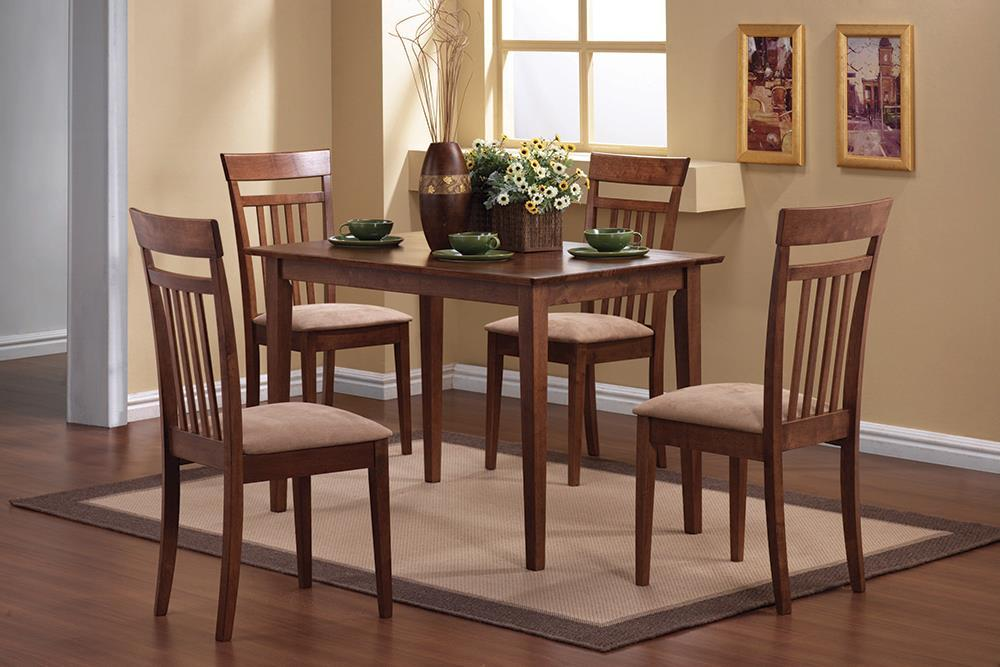 Dining: Packaged Sets Wood - Beige - 5-piece Dining Set Chestnut And Tan