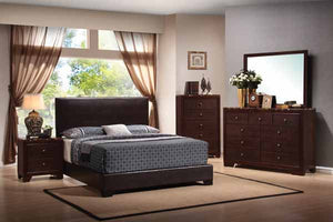 Open image in slideshow, Conner Collection - Dark Brown - Conner Casual Dark Brown Full Bed Box Two