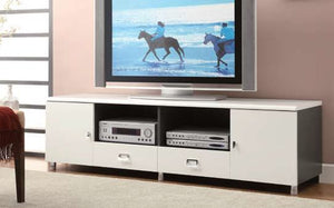Open image in slideshow, Living Room : Tv Consoles - Contemporary White Tv Console Box One
