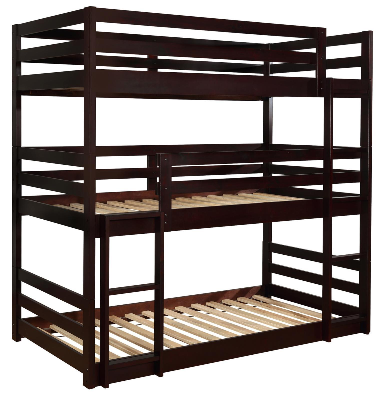 Sandler Triple Bunk Bed - Sandler Twin Triple Bunk Bed Cappuccino