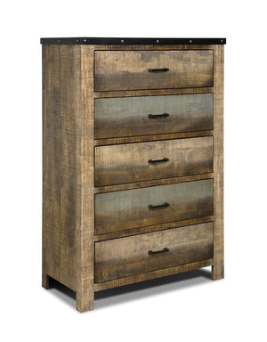 Open image in slideshow, Sembene Bedroom Collection - Sembene 5-drawer Chest Antique Multi-color
