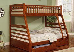 Open image in slideshow, Ashton Bunk Bed - Ashton Honey Twin-over-full Bunk Bed Box Three