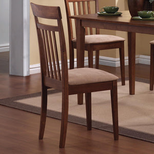 Open image in slideshow, Dining: Packaged Sets Wood - Beige - 5-piece Dining Set Chestnut And Tan