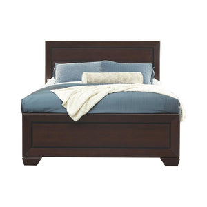 Fenbrook Collection - Kauffman California King Panel Bed Dark Cocoa