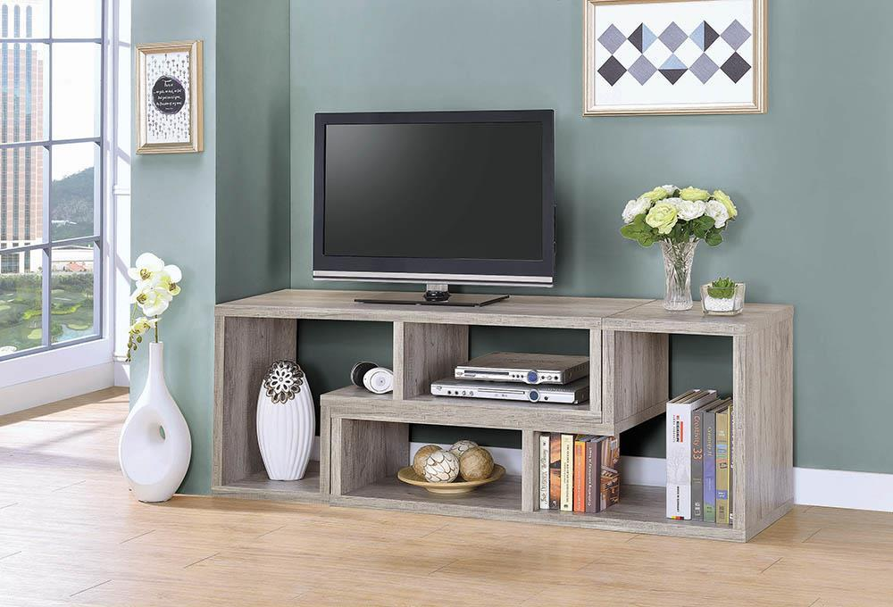 Home Office : Bookcases - Convertable Bookcase And Tv Console Grey Driftwood