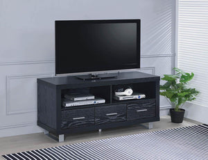 "Open image in slideshow, Living Room : Tv Consoles - 48"" 3-drawer Tv Console Black Oak"
