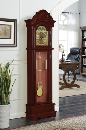 Open image in slideshow, Pink - Grandfather Clock Brown Red And Clear