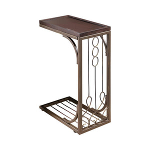 Accent Table Brown And Burnished Copper