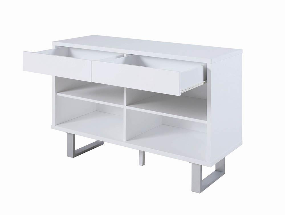 2-drawer Sofa Table High Glossy White