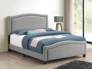 Open image in slideshow, Hamden Upholstered Bed - Mineral - Hamden Eastern King Upholstered Panel Bed Mineral