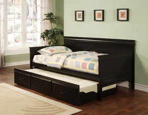 Open image in slideshow, Twin Daybed With Trundle - Louis Philippe Traditional Black Twin Daybed Box Two