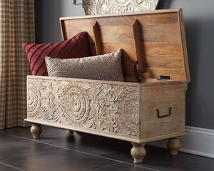 Fossil Ridge Storage Bench