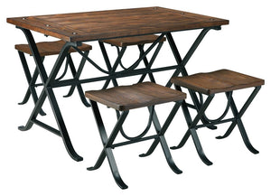 Open image in slideshow, Freimore Dining Table and Stools (Set of 5)