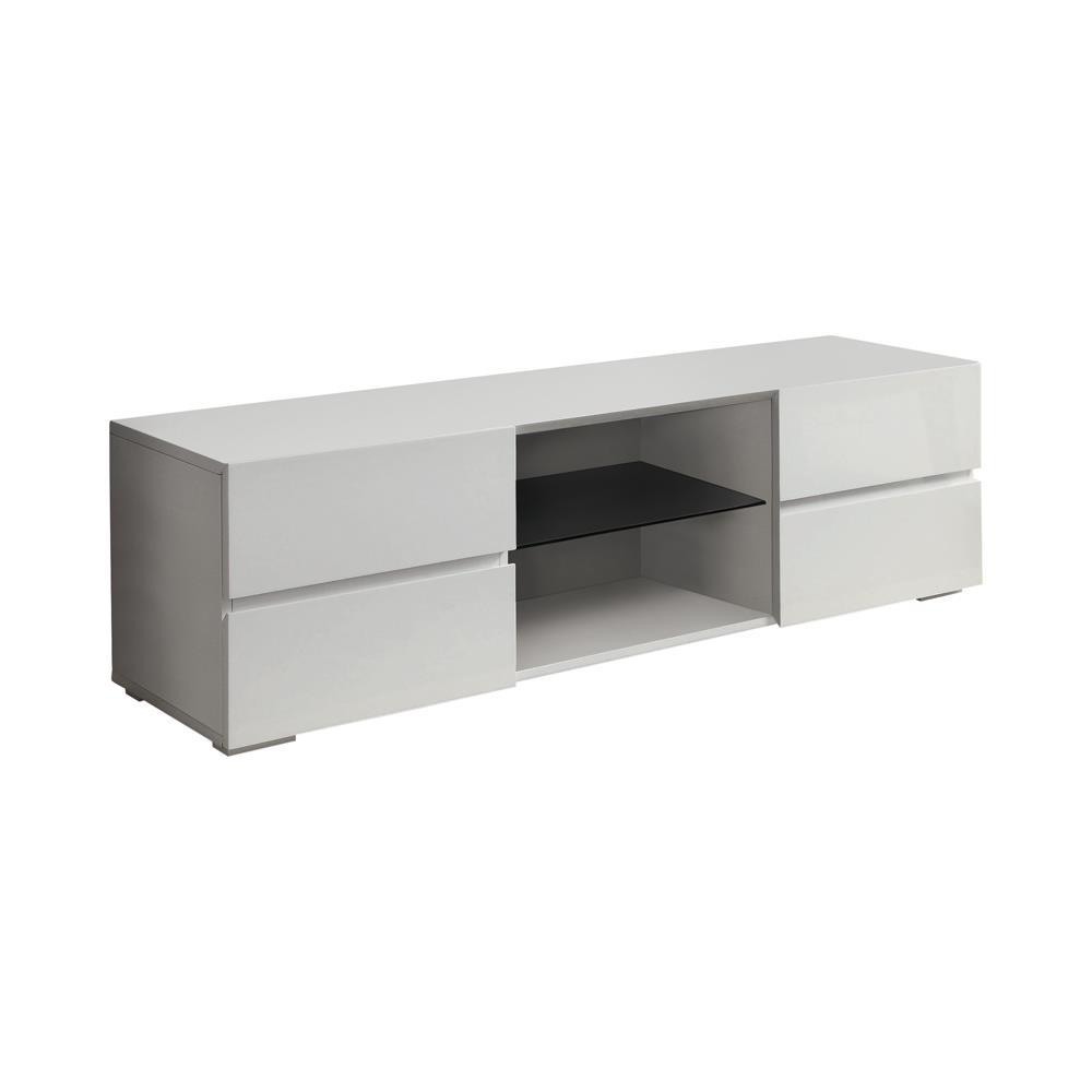 Living Room : Tv Consoles - 4-drawer Tv Console Glossy White