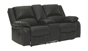 Open image in slideshow, Calderwell Reclining Loveseat with Console