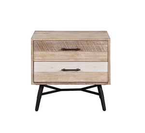 Marlow Collection - Marlow 2-drawer Nightstand Rough Sawn Multi