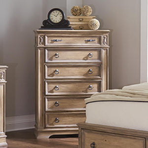 Open image in slideshow, Ilana Collection - Ilana 6-drawer Chest Antique Linen