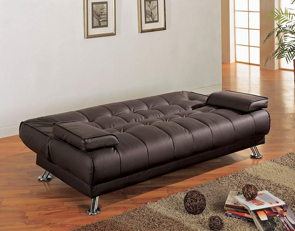 Living Room : Sofa Beds - Brown - Pierre Tufted Upholstered Sofa Bed Brown