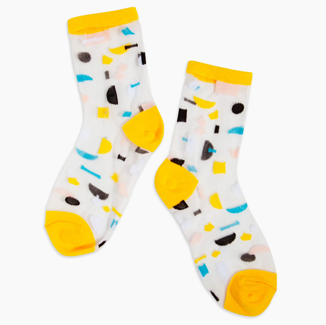 Sheer Socks in Yellow Elements
