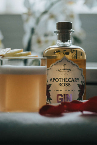 Rose and Apple Sour Cocktail
