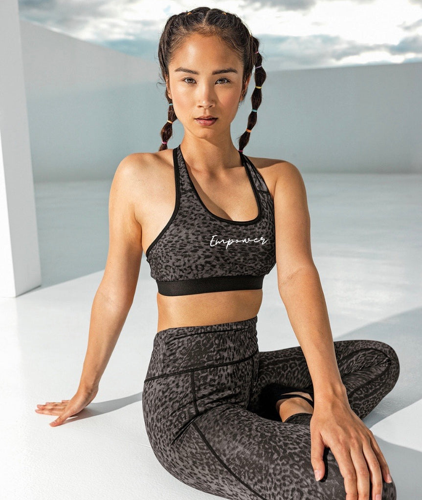 Empower Leopard Print Performance Sports Bra