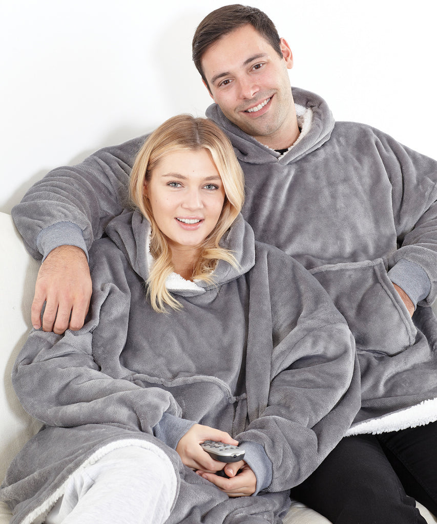 Oversized Hooded Fleece Blanket