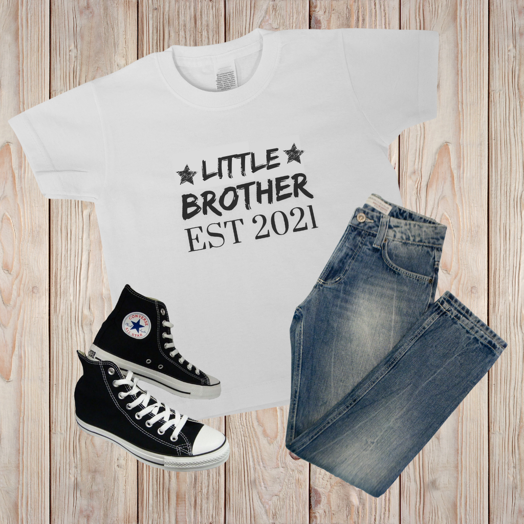 Personalised Little Brother EST T-shirt