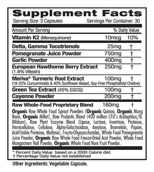 Emerald Labs Heart Health (90) Supplements Facts