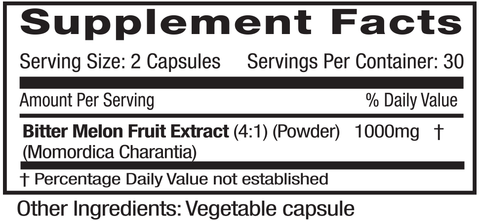 Emerald Labs Bitter Melon (60) supplements facts