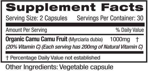 Emerald Labs Camu Camu (60) Supplements Facts