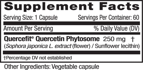 Emerald Labs Quercetin Phytosome Supp Facts
