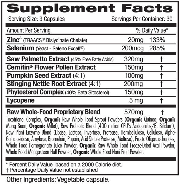 Emerald Labs Prostate Health (90) Supplements Facts