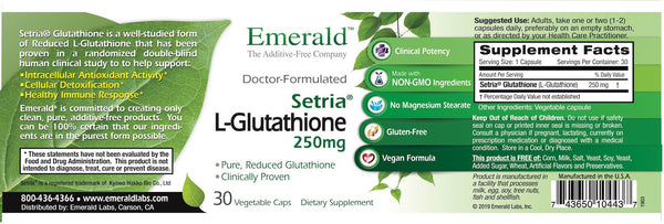 Emerald L-Glutathione label