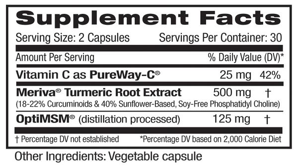 Emerald Meriva OptiMSM Supplement Facts