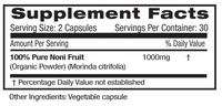 Emerald Noni Fruit Supplement Facts